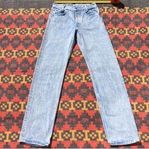 True Vintage 89-90s 701 Levi's Acid Wash Jeans